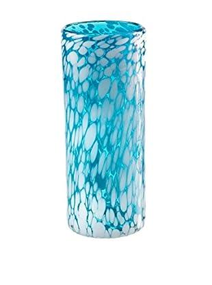 Nuvo Glass Vase, Aqua Ocean