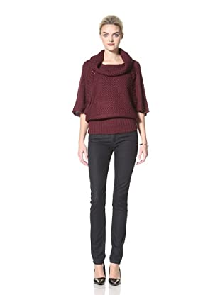 Dex Women's Cowl Neck Long Sweater (Berry Mix)