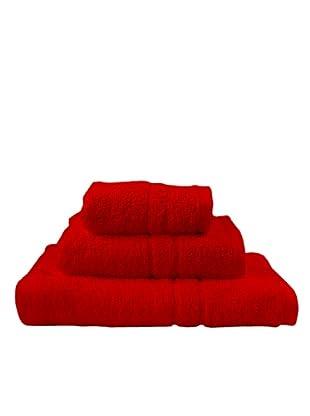 Little W Juego de Toallas Basic (Rojo)