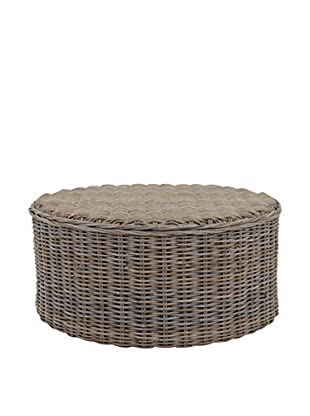 Jeffan Seascape Driftwood Rattan Round Coffee Table, Natural