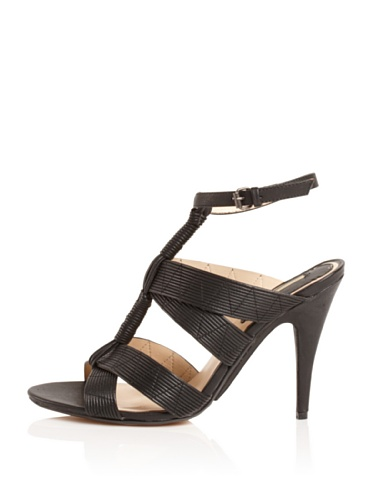 MaxStudio Women's Era Ankle-Strap Sandal (Black)
