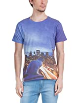 Zovi Poly Cotton City Lights White Graphic T- Shirt 109555079010S