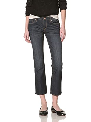 Driftwood Women's Cropped Bootcut Jean (Medium blue)
