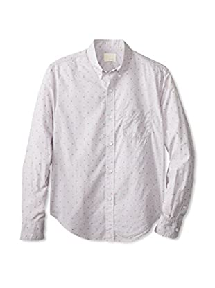 Band of Outsiders Men's Luxe Jacquard Long Sleeve Shirt (Grey)
