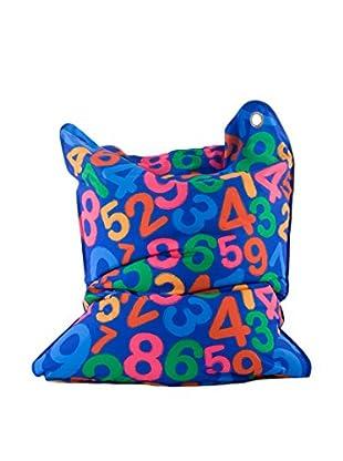 Sitting Bull Cojín Puff Niño Fashion Mini Bull Numbers Azul/Multicolor