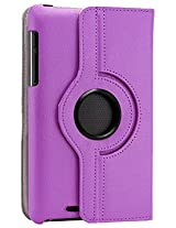 Gearonic 360 Degree Rotating PU Leather Case Cover Swivel Stand for Google Nexus 7 Asus Tablet, Purple (5099UPUIB)