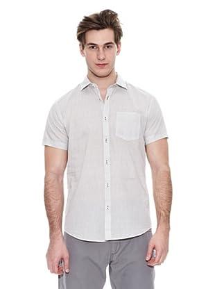 Springfield Camisa Vestir M/C. Sn Micro Print (Crudo)