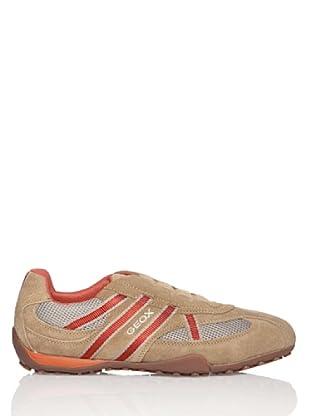 Geox  Snake - Zapatillas con cordones para hombre, Beige, 42
