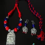 Red & Blue Dori Jewellery set