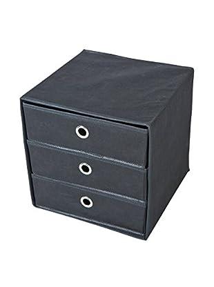 13 Casa Organizador 3 Cassetti Lolly A3 Negro