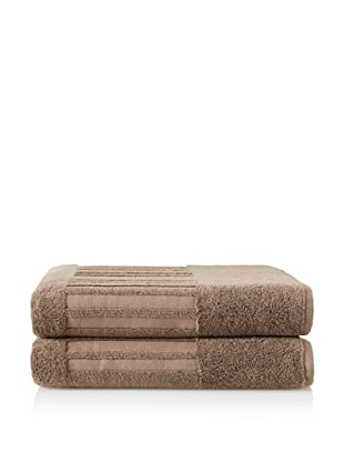 Garnier-Thiebaut Set of 2 Bath Sheets (Reglisse)