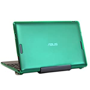 """iPearl mCover Hard Shell Case for 10.1"""" ASUS Transformer Book T100 series 2-in-1 ultraportable laptop - Green"""
