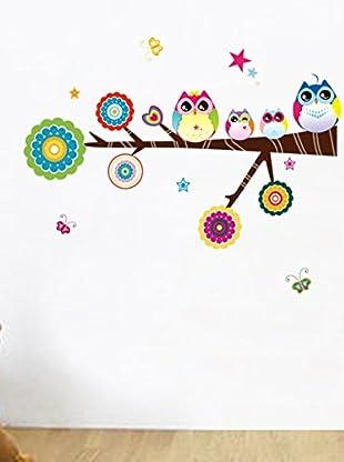 Ambiance Sticker Wandtattoo Owls And Stars