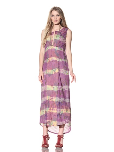 Gregory Parkinson Women's Long V-Neck Caftan (Purple)