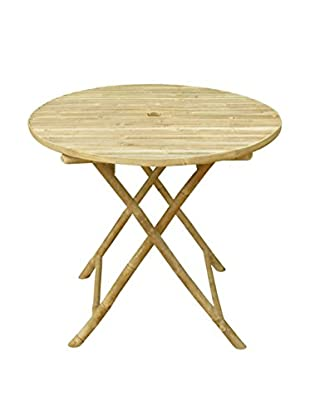 ZEW, Inc. Round Folding Bamboo Bistro Table, Natural
