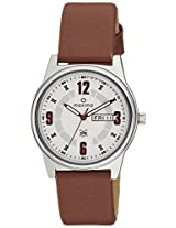 Maxima Analog white Dial Men's Watch - 38741LMGI