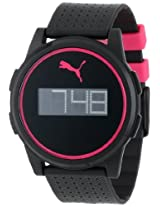 Puma Puma Flat Coaster Black Pink Lcd Watch - Pu910971004