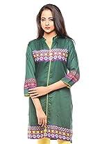 Purab Paschim Womens Cotton Sycamore X-Large Kurta