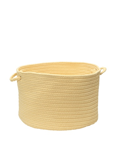 Colonial Mills Summer Solids Indoor/Outdoor Storage Basket (Dandelion)