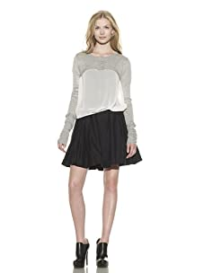Preen Line Women's Cropped Knit Top (Grey)