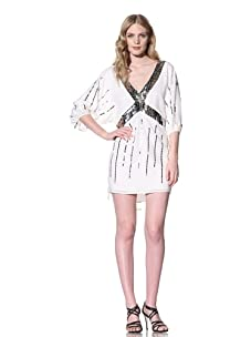 Sheri Bodell Women's Beaded Gypsy Dress (White)