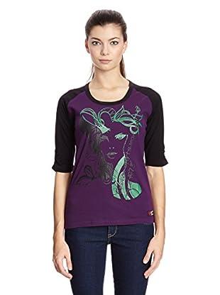 Sam 73 T-Shirt (violett/schwarz)