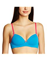Amante Padded Nonwired Demi Cup Bra