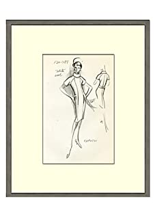 Vintage Women's Capucci Fashion Sketch c.1968