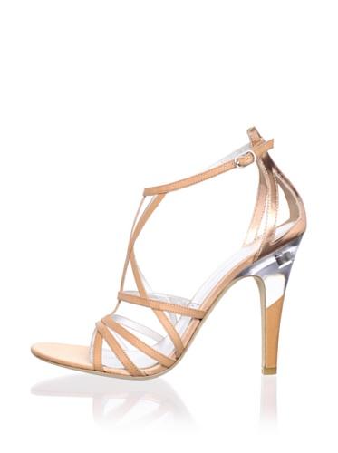 Sigerson Morrison Women's Picasso Sandal (Tan/Rose Gold)