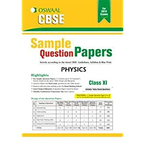 Oswaal CBSE Sample Question Papers: Physics for Class 11