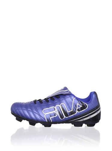 Fila Kid's Soundwave Rubber Blade Soccer Cleat (Toddler/Little Kid/Big Kid) (Black/Metallic Silver/Turkish Sea)