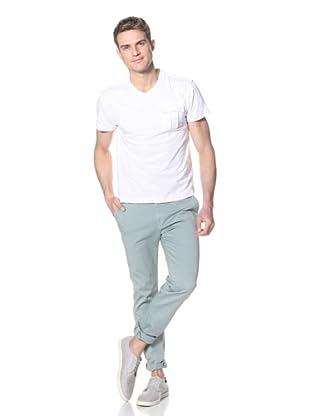 Dorsia Men's Orlando V-Neck Tee (White)