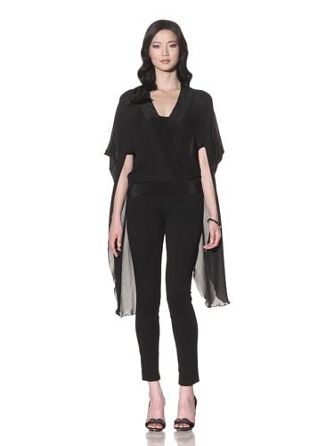 Foley + Corinna Women's Silk Capelet Tunic (Black)