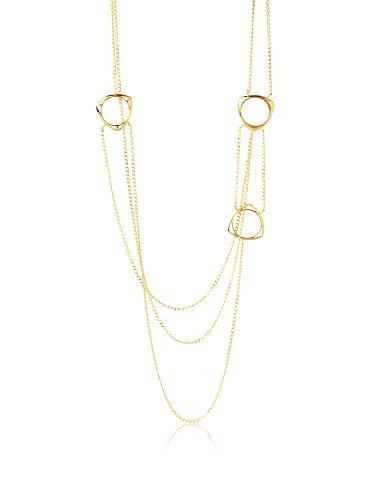 Katie Rowland Gold & Black Lilith Tri Necklace