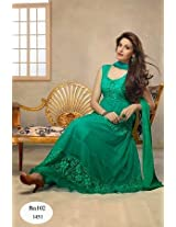 Fabboom The New Disignar Acva Green Long Anarkali Suit