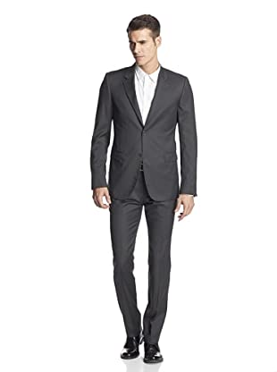 Calvin Klein Collection Men's Bowery Two Button Suit (Silver Grey)