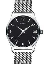 Movado Circa Analogue Black Dial Men's Watch - 606802