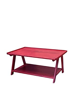 2 Day Designs Ladder Cocktail Table, Rouge