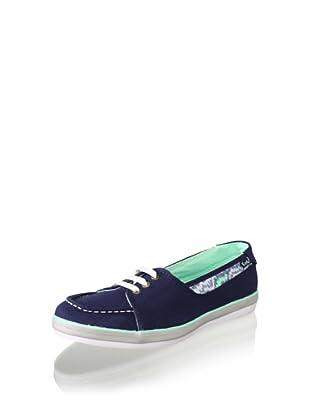 Keds Women's Beacon Boat Shoe (Navy/Animal)