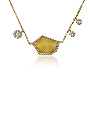 Riccova Citrine & Cubic Zirconia Dangle Necklace