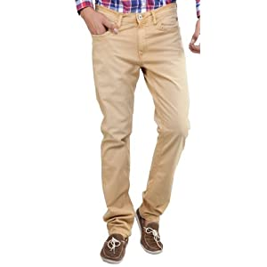 Van Heusen Mustard Cotton Slim Fit Men - Jeans
