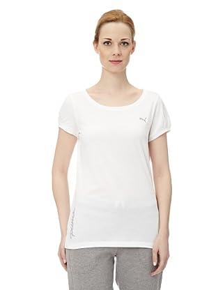 Puma Damen T-Shirt Pumascript Top I (White)
