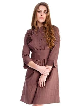 Almatrichi Vestido Flores (marrón)