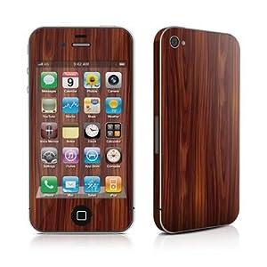 Apple iPhone 4用スキンシール【Dark Rosewood】