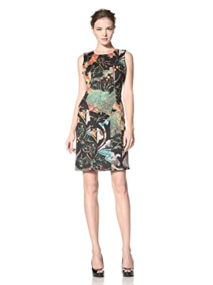 Calvin Klein Women's Printed Ponte Shift (Black Multi)