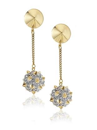 nOir Spiked Sphere Drop Earrings
