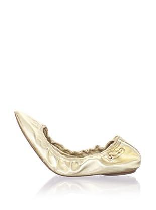 Ballasox by Corso Como Women's Festive Ballet Flat (Gold Metallic)