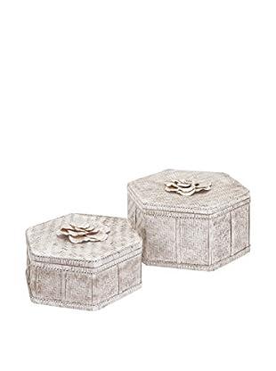Set of 2 Narissa Woven Bamboo Boxes
