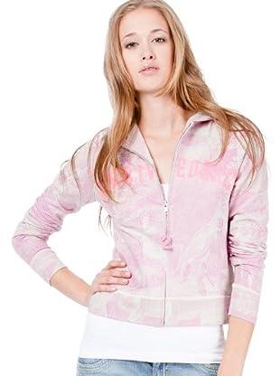 Custo Sweatshirt Goo Monty (Grau/Rosa)