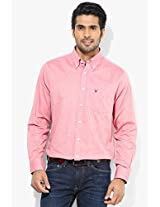 Pink Slim Fit Casual Shirt Allen Solly